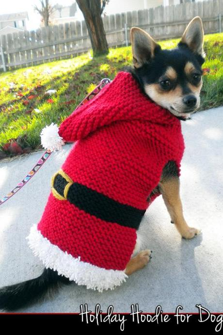 Holiday Hoodie for Dogs Knitting Pattern