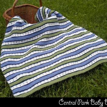 Central Park Baby Blanket Knitting Pattern