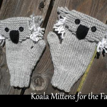 Koala Mittens for the Family Knitting Pattern