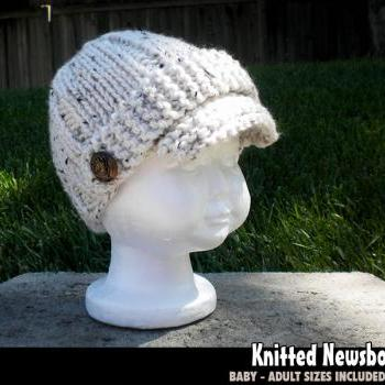 Quick & Easy Knitted Newsboy Hat for the Family Knitting Pattern