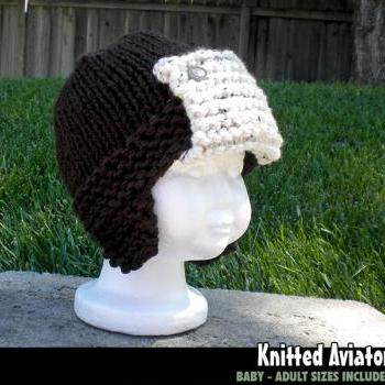 Knitted Aviator Hat for the Family Knitting Pattern