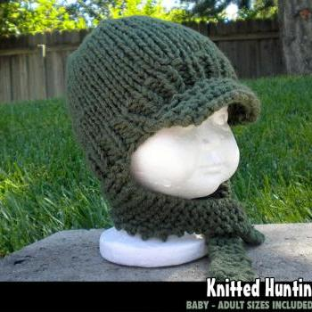 Knitted Hunting Hat for the Family Knitting Pattern