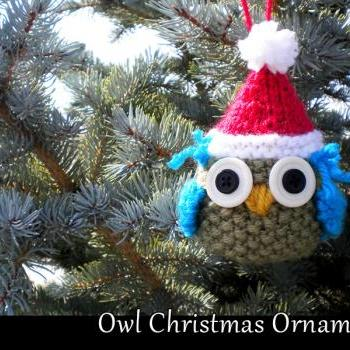 Owl Christmas Ornament Knitting Pattern