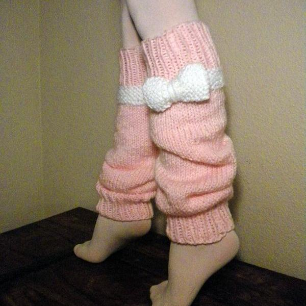 Ballerina Bows Legwarmers Knitting Pattern - Slouchy or Tight-high!