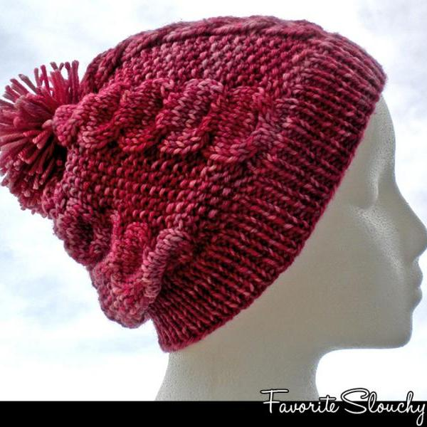 Favorite Slouchy Hat Knitting Pattern