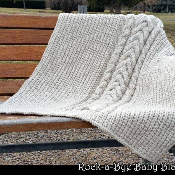 Rock-a-Bye Baby Blanket Knitting Pattern