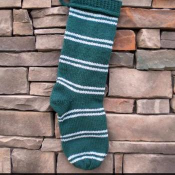 Hogwarts House Christmas Stocking Knitting Pattern