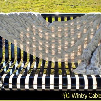 Wintry Cabled Wrap Knitting Pattern