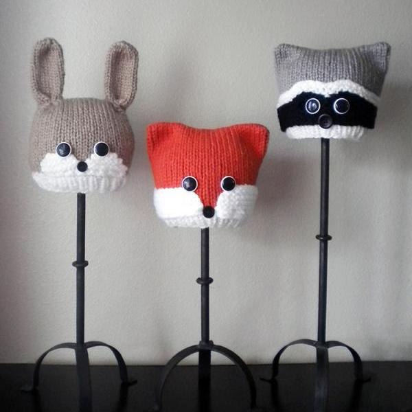 Woodland Animal Hat Knitting Patterns